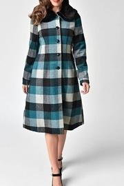 Woolly Check Coat
