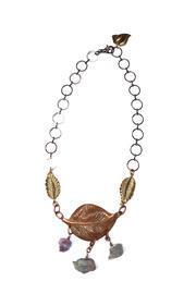 Antique Copper Leaf Necklace