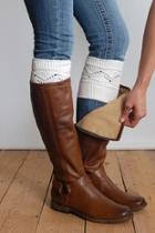 Cableknit Boot Cuffs