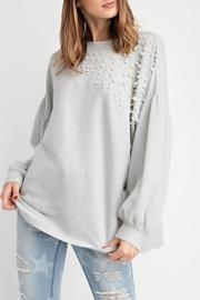 Pearl-details Pullover Top