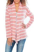 Pink Striped Cardigan