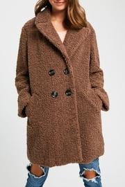 Shearling Button Down Coat