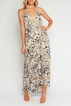 Leopard Halter Maxi-dress
