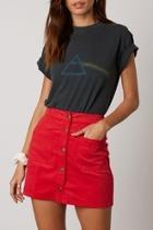 Corduroy Skirt Cherry