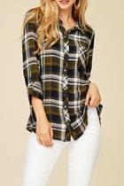 Plaid Buttondown Top