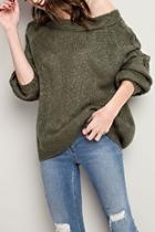 Chunky-knit/cable-knit Sweater