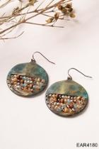 Circle Beaded Earrings