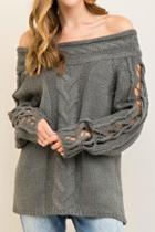 Offshoulder Sweater Top