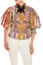 Colorful Brooch Blouse