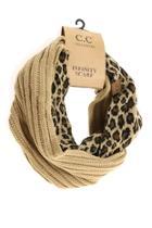 Tan Leopard Infinity Scarf