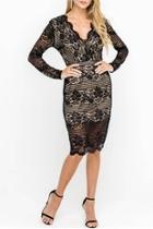 Lace Cocktail Midi-dress