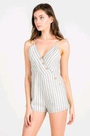 Navy/white Stripe Romper