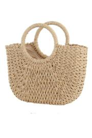 Handwoven Rattan Beach Bag