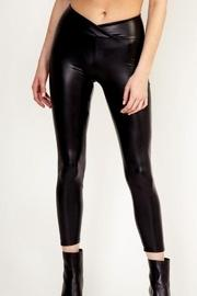 Faux-leather Cropped Leggings