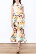 Creme Floral Linen