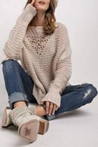 Chunky Crochet Sweater