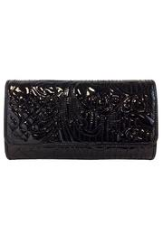 Embroidered Patent Clutch