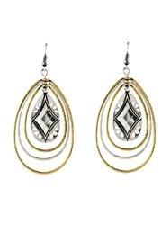 Two-tone Teardrop Earrings