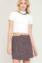 Woven Wrap Skirt