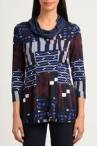 Abstract Cowl Top