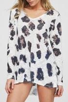 Leopard-print Knit Top
