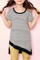 Asymmertrical Striped Top