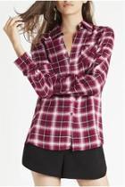 Button Plaid Shirt