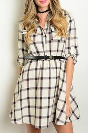 Cream Navy Dress