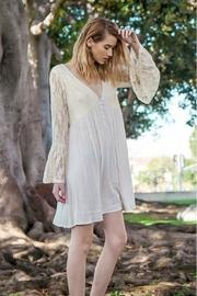 Cream Lace V-neck