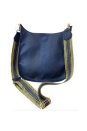 Faux Snake Messenger Bag W/2 Adjustable Aztec Guitar Strap