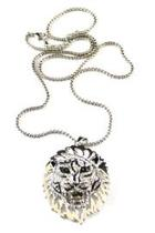 Tiger Pin Pendant Necklace