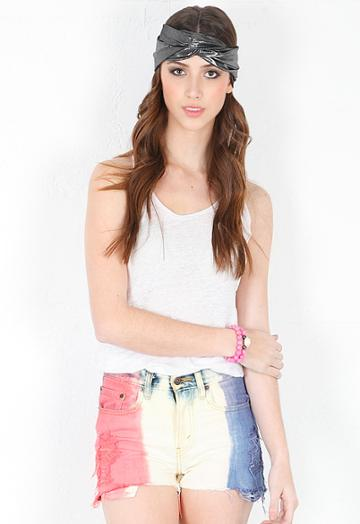 Who Cares Nyc Tie Dye Cut Off Shorts