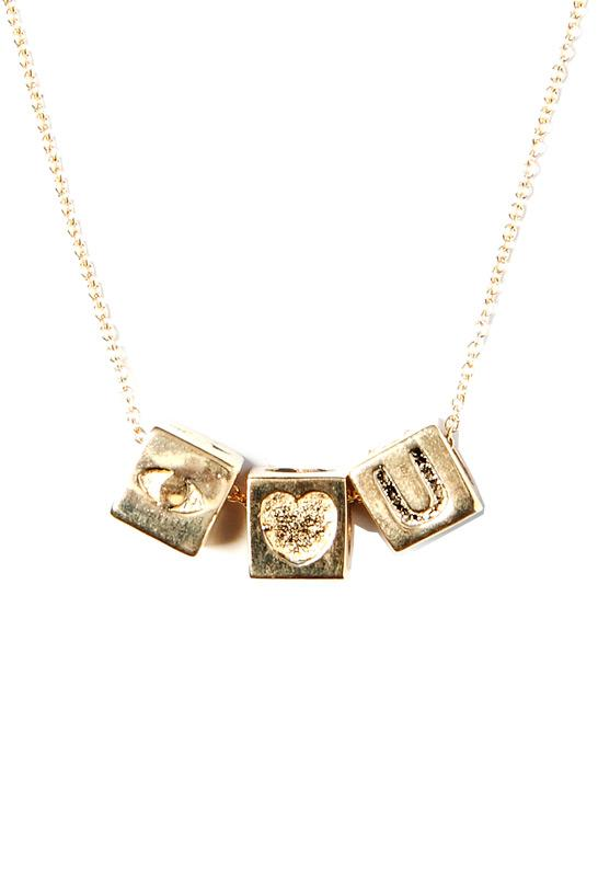 Le Bloc I Love You Chain Necklace