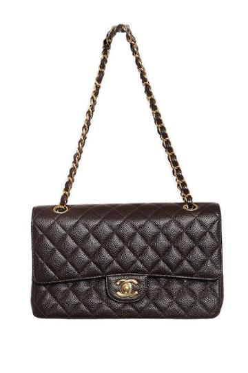 Vintage Chanel Double Flap Caviar Shoulder Bag