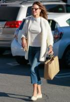 Mother The Insider Crop Step Fray Jean As Seen On Alessandra Ambrosio