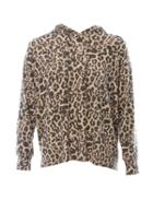 Lna Oversized Leopard Hoody