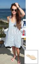 Trove Tkees Foundation Leather Sandal As Seen On Lindsay Lohan