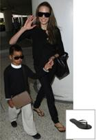 Trove Tkees Liner Leather Sandal As Seen On Angelina Jolie