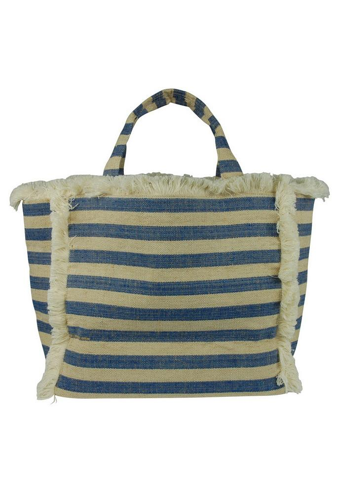 Hat Attack Fringed Canvas Tote