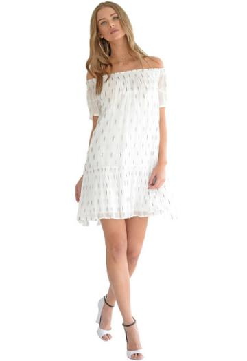 Muche Et Muchette Suzie Flocked Lurex Dress