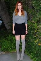 Songbird Cashmere Oversized Vneck Sweater As Seen On Rumer Willis