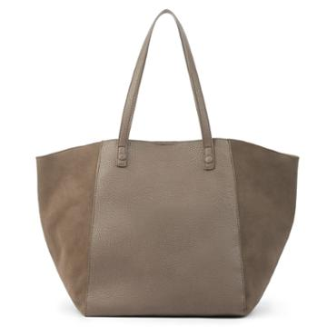 Sole Society Sole Society Wesley Slouchy Tote W/ Genuine Suede Gussets - Taupe