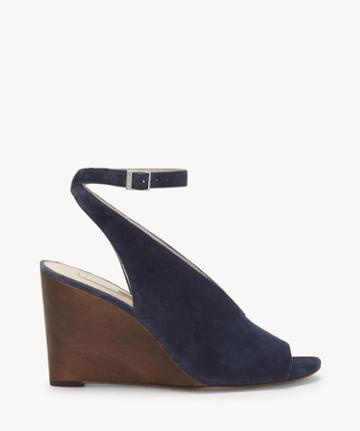 Louise Et Cie Louise Et Cie Women's Piarissa Slingback Wedges Deep Indigo Size 5 Suede From Sole Society