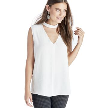 1. State 1. State Bar Neck Blouse - Cloud-xs