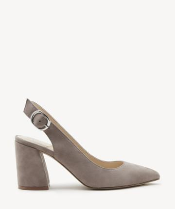 Sole Society Women's Trudie Slingback Pumps Porcini Size 5 Haircalf From Sole Society