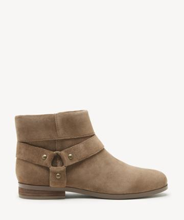 Sole Society Women's Brighid Flats Bootie Honey Size 5 Suede From Sole Society