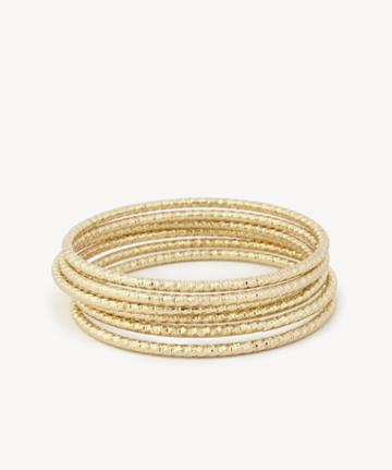 Sole Society Women's Textured Bangle Bracelet Set Gold One Size From Sole Society