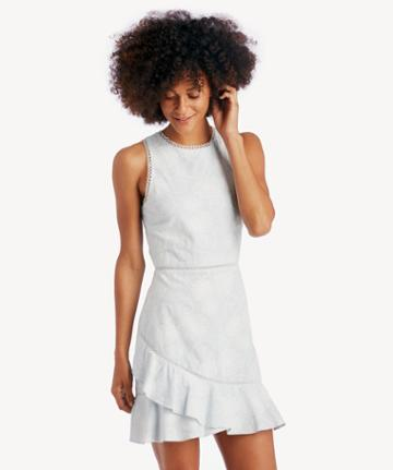J.o.a. J.o.a. Asymmetrical Ruffled Hem Dress