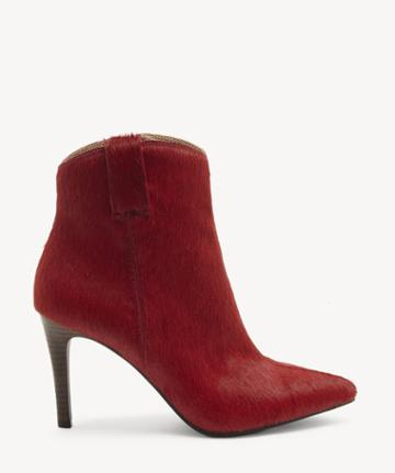Lucky Brand Lucky Brand Women's Torince2 Pointed Toe Bootie Barbados Cherry Size 5 Hair Calf Fur From Sole Society