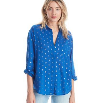 Scotch & Soda Scotch & Soda Cotton Lurex Button Up Shirt - Combo B-small